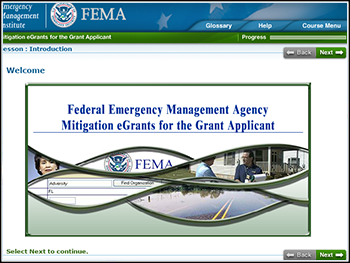 FEMA eGrants WBT for Local/State/Tribal Users and Job