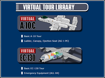 USAF A-10C and EC-130 Virtual Tours