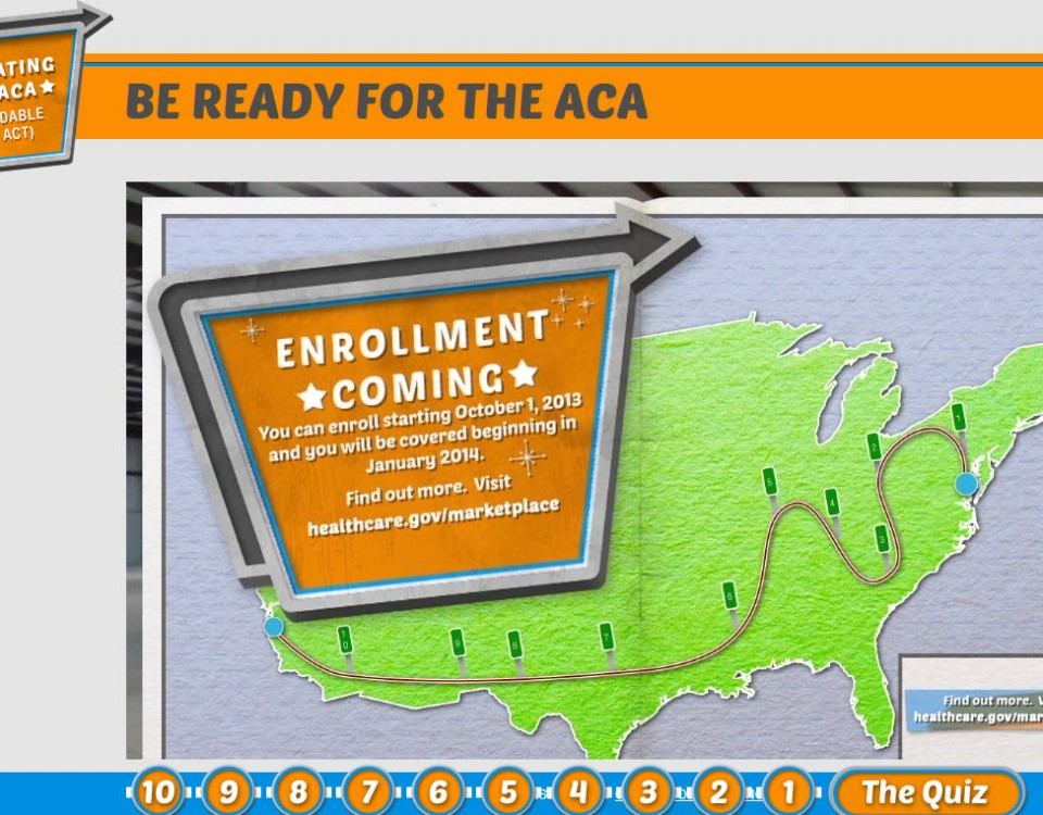 Screen shot of video short on how to get ready for the ACA