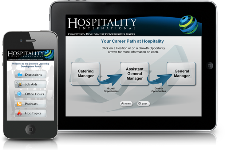 Hospitality job aids on mobile devices