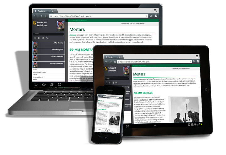 Military curriculum on mobile devices