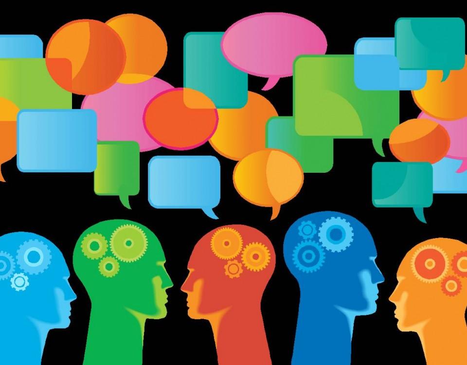 Illustration representing people sharing ideas