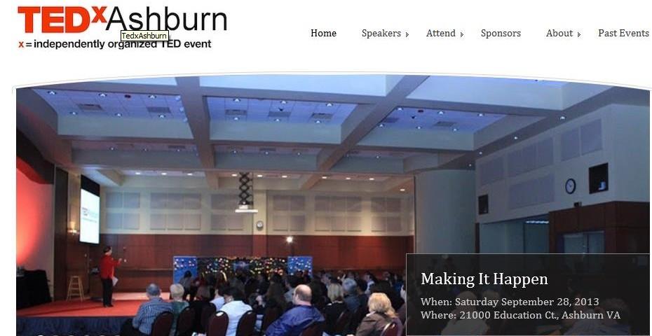Presentation at TEDx Ashburn