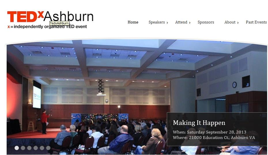 Presentation at TEDx Ashburn
