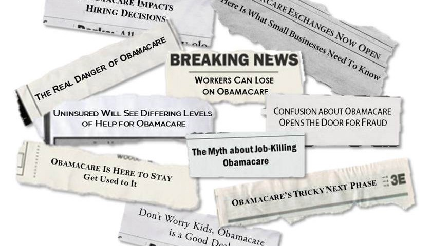 Newspaper headlines about ObamaCaree