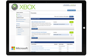 Microsoft XBox Call Center Training Learning Management System