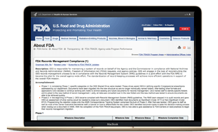 FDA Records Management - workflow management software